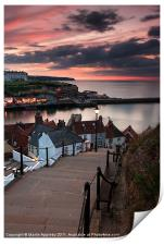 The 199 Steps At Sunset., Print