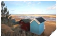 Wells-Next-The-Sea Beach Huts, Print