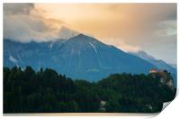 Lake Bled and castle, Print