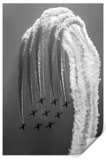 Red Arrows Black and White, Print