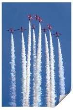 Red Arrows 5 4 spilt, Print