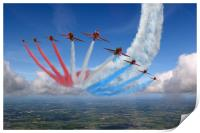 Red Arrows Smoke on Go, Print