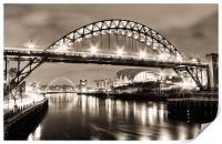 The Bright Lights of Newcastle Upon Tyne, Print