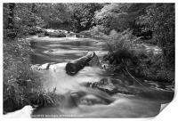 River upstream of Aira Force, Lake District., Print
