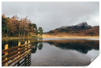 Low cloud and reflections on Blea Tarn., Print