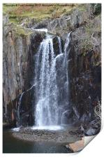 2. Walna Scar Waterfall, Print