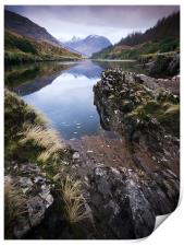 River Etive towards Ben Starav, Print