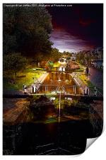 Canal By Moonlight, Print