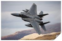 F 15C Eagle Low Fly, Print