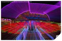 Zoomburst picture of the Waltzer funfair ride, Print