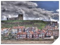 Whitby Church and Houses, Print