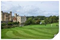 Putting at Leeds Castle Golf Course , Print
