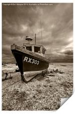 Dungeness Boat under Cloudy Skies, Print