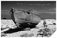 Dungeness Decayed Boat, Print