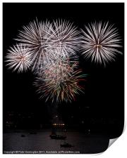 Fireworks at Plymouth, Print
