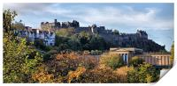 Autumnal Edinburgh Castle, Print