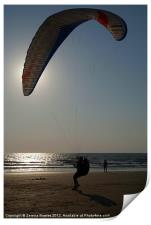 Learning to Paraglide Arambol, Print