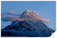 Mountains at Sunrise Poon Hill, Print