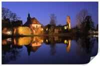 Blue hour castle, Print