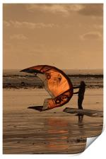 Flying High at the Beach, Print