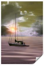 ANCHORED FOR THE NIGHT, Print