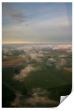 Fields Clouds and Sky Aerial, Print