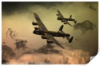 Lancaster Fire In The Sky, Print