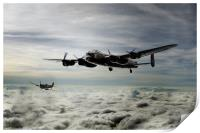 Lancaster and Spitfire Duo, Print