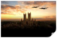 Lancs over Lincoln , Print