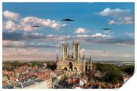 Bombers Over Lincoln , Print