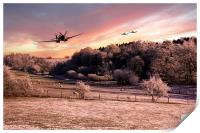 A Cold Winters Morning , Print