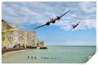 Blenheims Over The Cliffs, Print