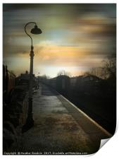 Bitton Railway Station, Somerset., Print