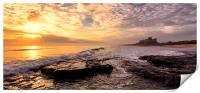 Bamburgh Sunrise Panaromic, Print