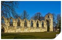 Ruins of St Mary's Abbey - York, Print