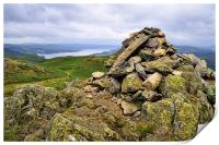Windermere As Seen From Loughrigg Fell., Print