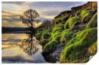 Along The Banks Of The River Lune, Print