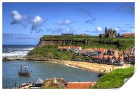 The Endeavour in Whitby Harbour, Print