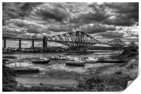Low Tide in North Queensferry - B&W, Print