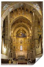 Inside Monreale Cathederal, Print