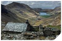 Old Quarry hut - Buttermere , Print