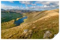 Hayeswater from high street Lake district, Print