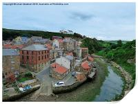 Staithes Harbour., Print