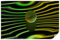 Abstract art Floating glass ball abstract., Print