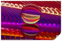 Abstract art Brilliance in the crystal ball, Print
