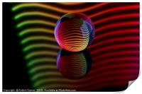 Abstract art Reflections in the crystal ball., Print