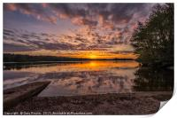 Sunrise at Whitlingham Country Park , Print