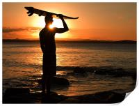 Surfer at Sunset, Print