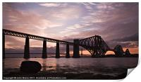 Forth Rail Bridge at Sunset, Print