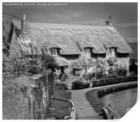 Thatched Cottage,Thornton-le-Dale, Print